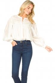 JC Sophie |  Cotton blouse Jade | white  | Picture 4