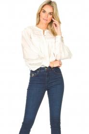 JC Sophie |  Cotton blouse Jade | white  | Picture 5