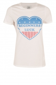 T-shirt Beginners Luck | wit