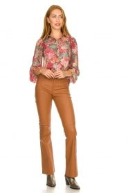 Notes Du Nord |  Floral blouse Rositta | pink  | Picture 3