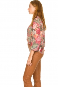 Notes Du Nord |  Floral blouse Rositta | pink  | Picture 5