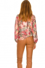 Notes Du Nord |  Floral blouse Rositta | pink  | Picture 6