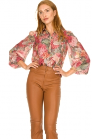 Notes Du Nord |  Floral blouse Rositta | pink  | Picture 4