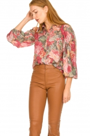 Notes Du Nord |  Floral blouse Rositta | pink  | Picture 2