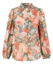 Notes Du Nord |  Floral blouse Rositta | pink  | Picture 1