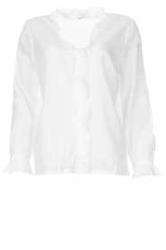 JC Sophie |  See-through blouse Julius | white   | Picture 1