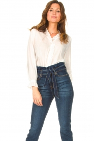 JC Sophie |  See-through blouse Julius | white   | Picture 2