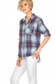 Bella Dahl |   Plaid blouse Nora | blue  | Picture 4