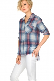 Bella Dahl | Geruite blouse Nora | blauw  | Afbeelding 4