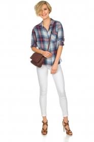 Bella Dahl | Geruite blouse Nora | blauw  | Afbeelding 3