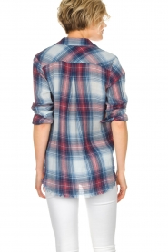 Bella Dahl | Geruite blouse Nora | blauw  | Afbeelding 5