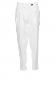 AnnaRita N |  Linen trousers Rozalie | white  | Picture 1