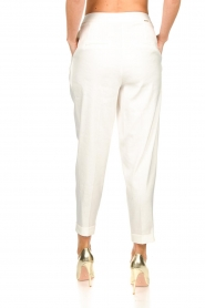 AnnaRita N |  Linen trousers Rozalie | white  | Picture 5