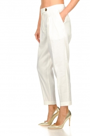 AnnaRita N |  Linen trousers Rozalie | white  | Picture 4