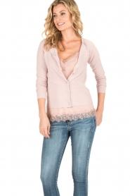 Rosemunde | Wol/kasjmier vest Isa | light pink  | Afbeelding 2