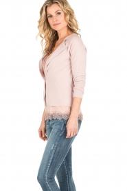 Rosemunde | Wol/kasjmier vest Isa | light pink  | Afbeelding 4