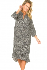 JC Sophie |  Tunic dress with print Julie | black  | Picture 5