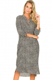 JC Sophie |  Tunic dress with print Julie | black  | Picture 4