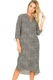 JC Sophie |  Tunic dress with print Julie | black  | Picture 2