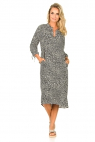 JC Sophie |  Tunic dress with print Julie | black  | Picture 3