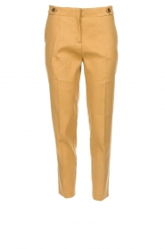 AnnaRita N |  Linen trousers Noah | camel  | Picture 1