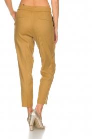 AnnaRita N    Linen trousers Noah   camel    Picture 5