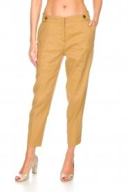 AnnaRita N    Linen trousers Noah   camel    Picture 3