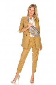 AnnaRita N |  Linen trousers Noah | camel  | Picture 3