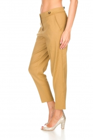 AnnaRita N |  Linen trousers Noah | camel  | Picture 4