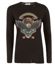 Zoe Karssen | T-shirt The Golden Eagle | zwart  | Afbeelding 1
