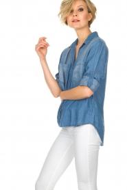 Bella Dahl | Spijkerblouse Nila | blauw  | Afbeelding 4
