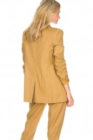 AnnaRita N |  Linen blazer Philly | camel  | Picture 5