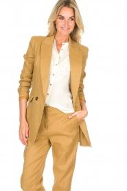 AnnaRita N |  Linen blazer Philly | camel  | Picture 2