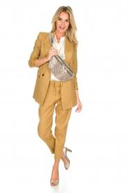 AnnaRita N |  Linen blazer Philly | camel  | Picture 3
