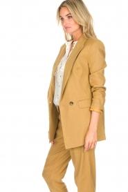 AnnaRita N |  Linen blazer Philly | camel  | Picture 4