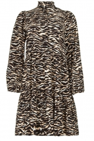 Notes Du Nord | Dress with zebra print Rosie | black  | Picture 1