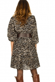Notes Du Nord | Dress with zebra print Rosie | black  | Picture 6