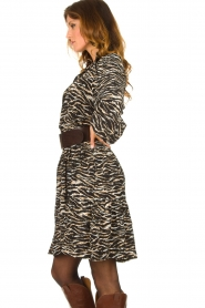 Notes Du Nord | Dress with zebra print Rosie | black  | Picture 5