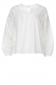 JC Sophie |  Embroidered blouse Jaipur | white  | Picture 1
