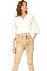JC Sophie |  Embroidered blouse Jaipur | white  | Picture 4