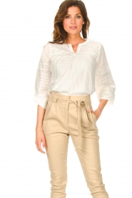 JC Sophie |  Embroidered blouse Jaipur | white  | Picture 2