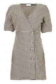 Notes Du Nord |  Checkered dress Riley | blue  | Picture 1