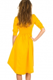 AnnaRita N |  Dress with smocked waist Svea | yellow  | Picture 5