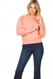 Notes Du Nord | Sweater with puff sleeves Oxford | pink  | Picture 4