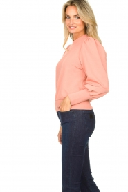 Notes Du Nord | Sweater with puff sleeves Oxford | pink  | Picture 5