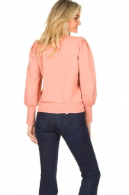 Notes Du Nord | Sweater with puff sleeves Oxford | pink  | Picture 6