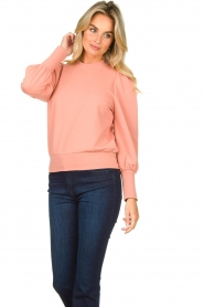 Notes Du Nord | Sweater with puff sleeves Oxford | pink  | Picture 2