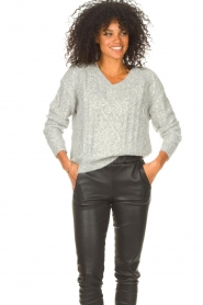 JC Sophie |  Knitted sweater Journey | grey  | Picture 5