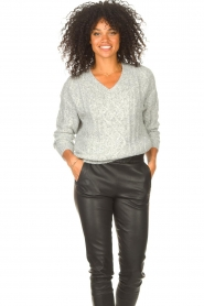 JC Sophie |  Knitted sweater Journey | grey  | Picture 2