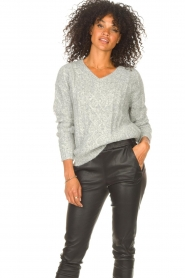 JC Sophie |  Knitted sweater Journey | grey  | Picture 4